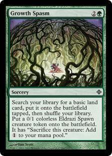 Growth Spasm Magic Card