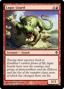 Lagac Lizard Magic Card