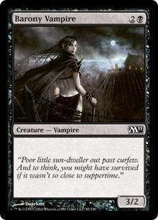 Barony Vampire Magic Card