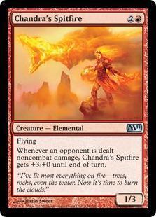 Chandra's Spitfire Magic Card