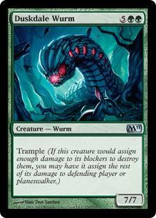 Duskdale Wurm Magic Card