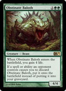 Obstinate Baloth Magic Card
