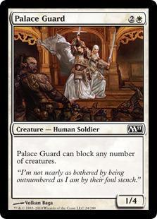 Palace Guard Magic Card