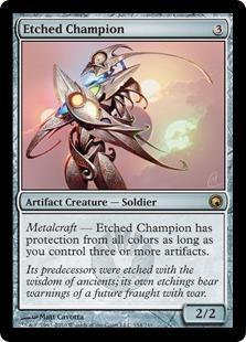 Etched Champion Magic Card