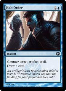 Halt Order Magic Card
