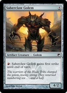 Saberclaw Golem Magic Card