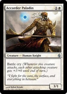 Accorder Paladin Magic Card