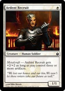 Ardent Recruit Magic Card