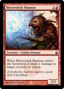 Blisterstick Shaman Magic Card