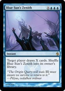 Blue Sun's Zenith Magic Card