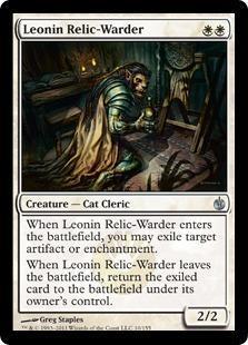 Leonin Relic-Warder Magic Card