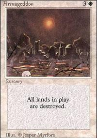 Armageddon Magic Card