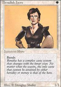 Benalish Hero Magic Card