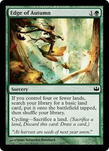 Edge of Autumn Magic Card