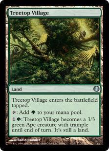 Treetop Village Magic Card