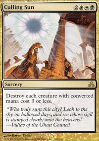Culling Sun Magic Card