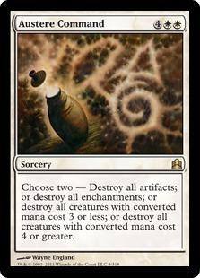 Austere Command Magic Card