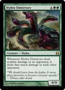 Hydra Omnivore Magic Card