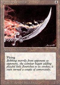 Dancing Scimitar Magic Card