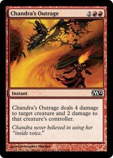 Chandra's Outrage Magic Card