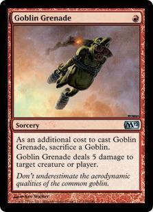 Goblin Grenade Magic Card