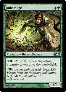 Jade Mage Magic Card