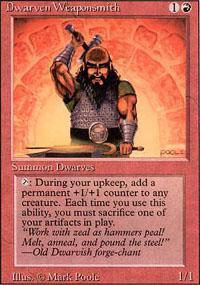 Dwarven Weaponsmith Magic Card