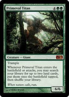 Primeval Titan Magic Card