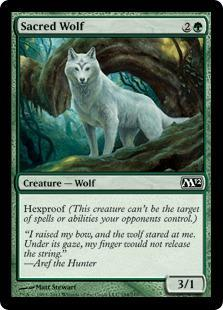 Sacred Wolf Magic Card