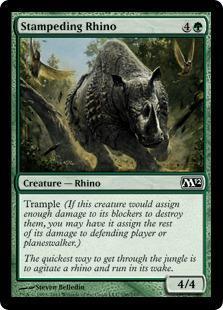 Stampeding Rhino Magic Card