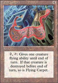 Flying Carpet Magic Card