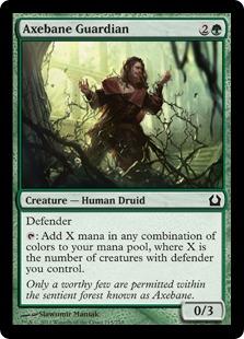 Axebane Guardian Magic Card