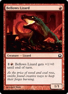 Bellows Lizard Magic Card