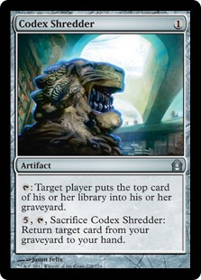 Codex Shredder Magic Card