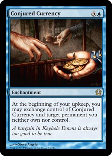 Conjured Currency Magic Card