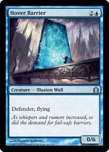 Hover Barrier Magic Card
