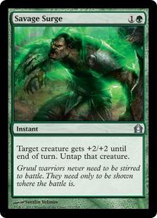 Savage Surge Magic Card
