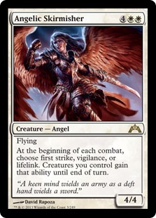Angelic Skirmisher Magic Card