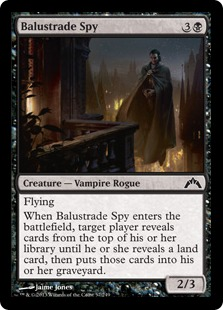 Balustrade Spy Magic Card