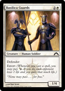 Basilica Guards Magic Card