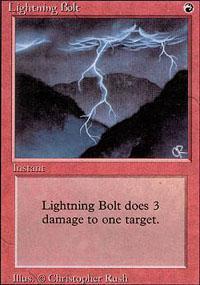 Lightning Bolt Magic Card