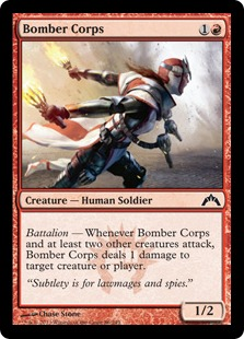 Bomber Corps Magic Card
