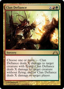 Clan Defiance Magic Card