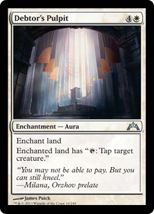 Debtor's Pulpit Magic Card