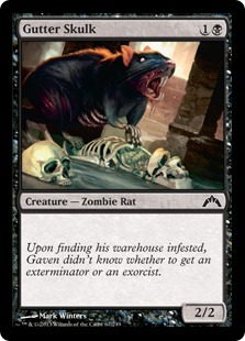Gutter Skulk Magic Card