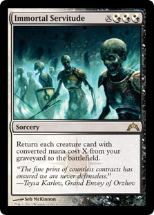 Immortal Servitude Magic Card