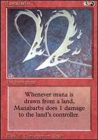 Manabarbs Magic Card