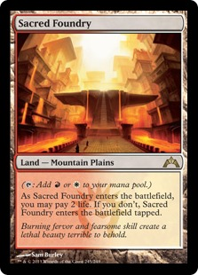 Sacred Foundry Magic Card