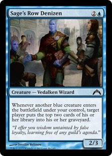 Sage's Row Denizen Magic Card