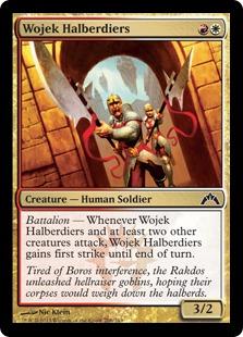 Wojek Halberdiers Magic Card